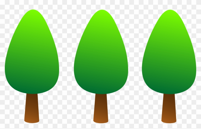 Clipart Lemon Tree Images - Cartoon Line Of Trees #841