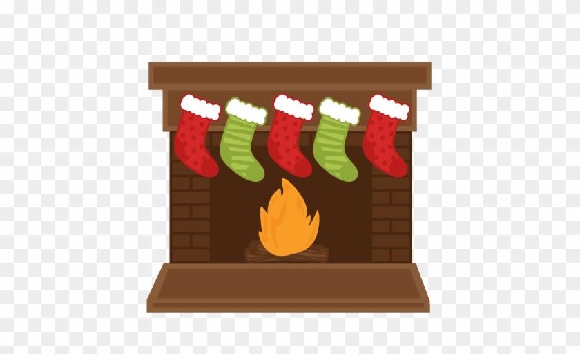 Phenomenal Christmas Fireplace Stockings Svg Scrapbook Shapes Home Interior And Landscaping Mentranervesignezvosmurscom