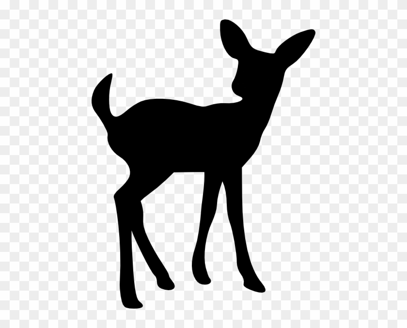 Baby Deer Silhouette #8250