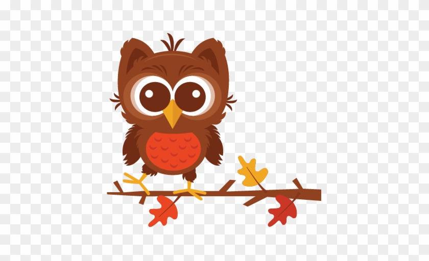 Fall Owl Svg Scrapbook Cut File Cute Clipart Files - Scalable Vector Graphics #8251