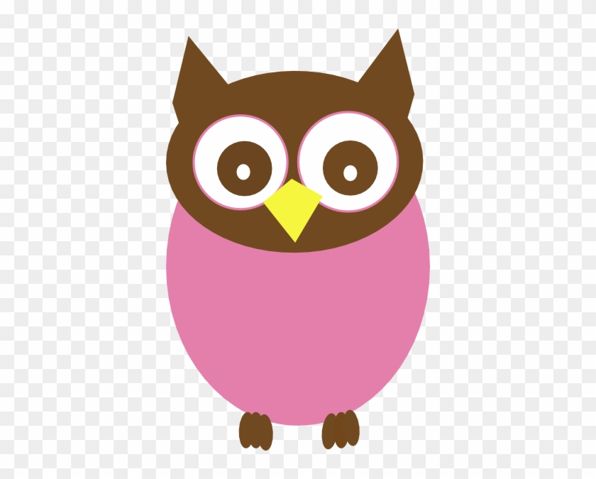 Owl Clip Art Pink - Pink And Brown Owl #8270