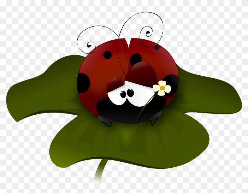 Free Lonely Ladybug Clip Art - Ladybug On Flower Clipart #8274