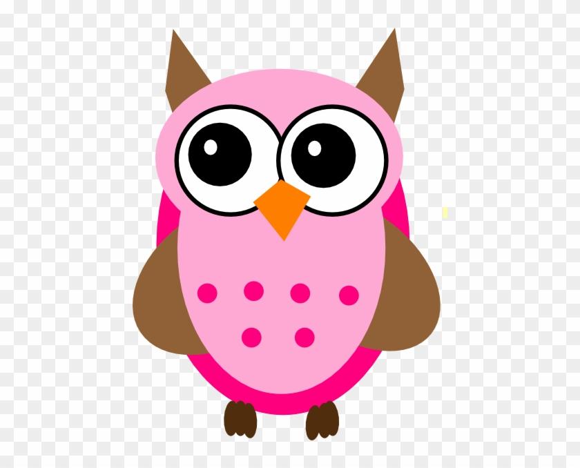 Pink Brown Owl Clip Art At Clker Com Vector Clip Art - Baby Owl Clip Art #8286