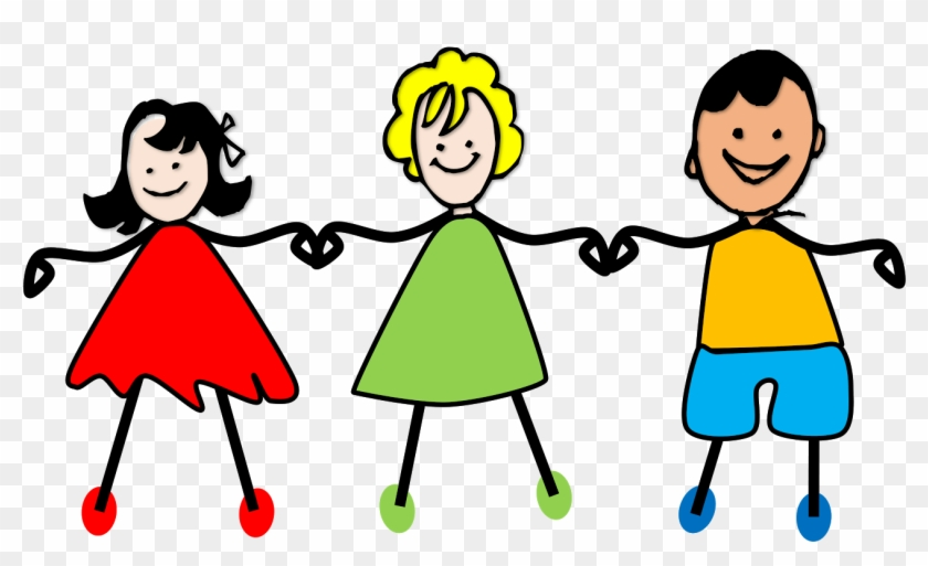 Kids Holding Hands Clip Art - Kids Holding Hands Clip Art #8288