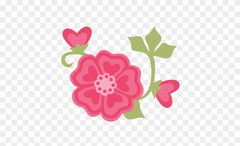 Valentine Flowers Svg Cut Files For Scrapbooking Cardmaking - Cute Flower Transparent Png #8298