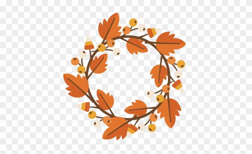 Fall Wreath Svg Cutting File For Electronic Cutting - Fall Wreath Clip Art Free #8309