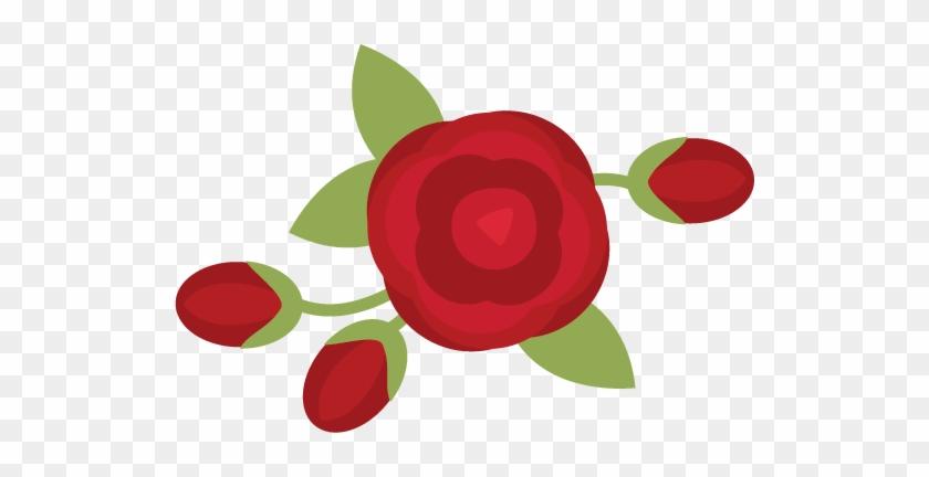 Rose Svg Scrapbook File Rose Svg File Rose Svg Cut - Illustration #8311