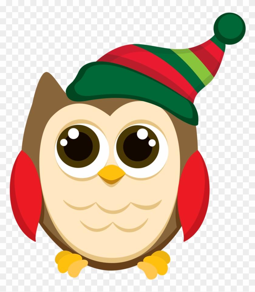 Christmas Owl Clipart Christmas Owl Clip Art Patterns - Owl Christmas Clip Art #8327