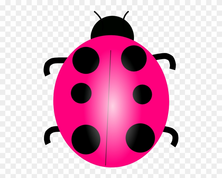 Pink Ladybug Clip Art At Clker Com Vector Clip Art - Pink Lady Bug Clip Art #8356