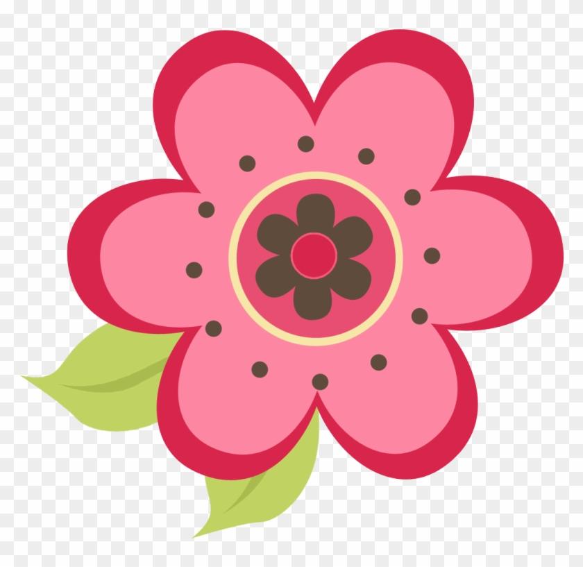 Pink Ladybug Cliparts - Ladybug Flower Clipart #8373