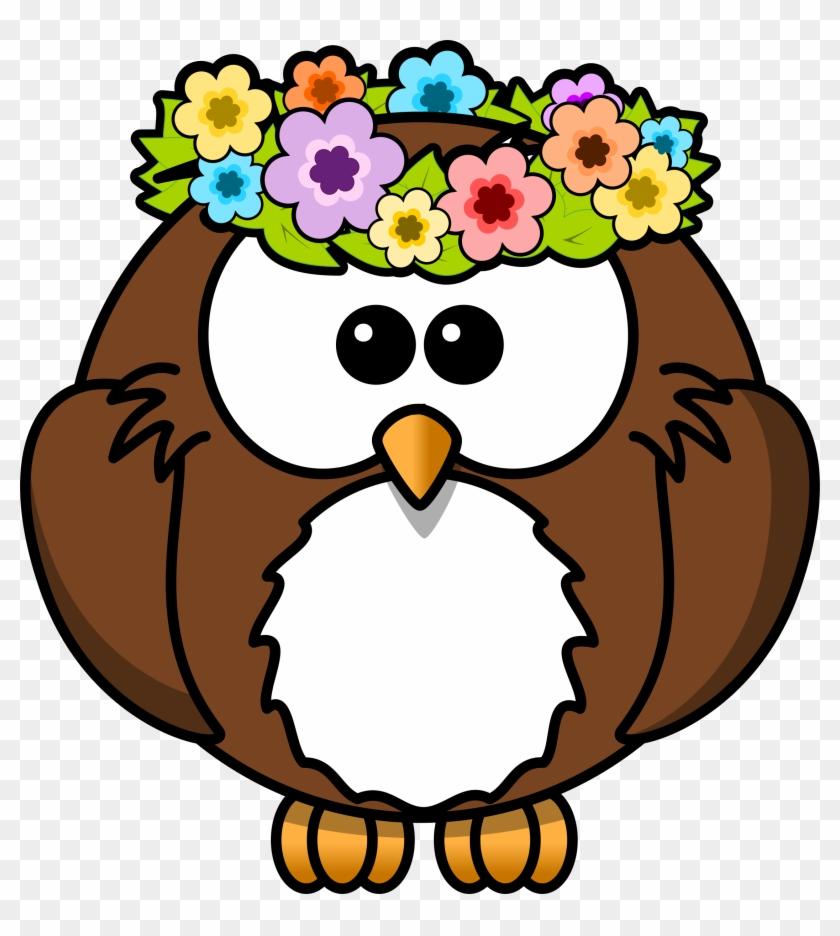 Cartoon Owl Clipart - Cartoon Owl Spring #8382