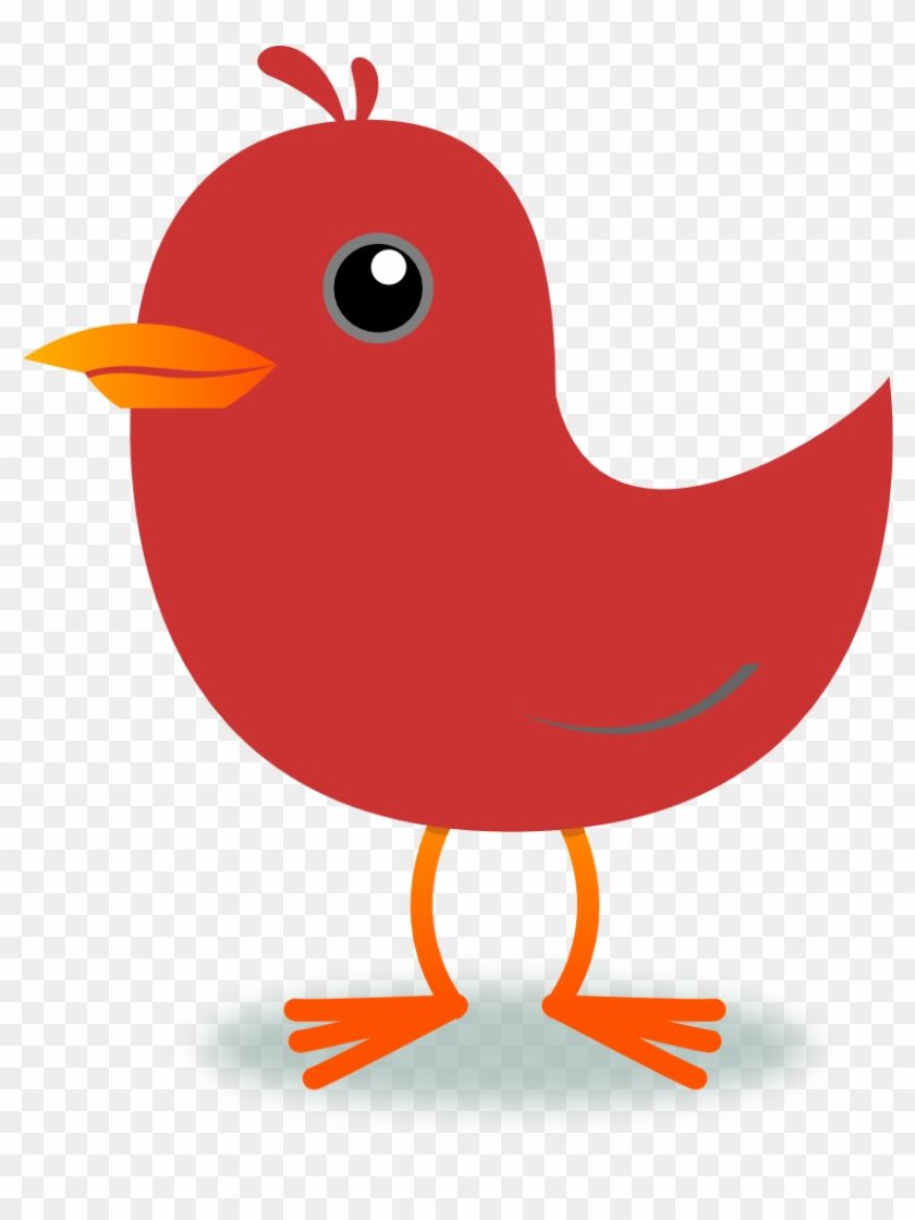 Purple Bird Clip Art At Vector Clip Art Online Image - Red Bird Clipart #8391