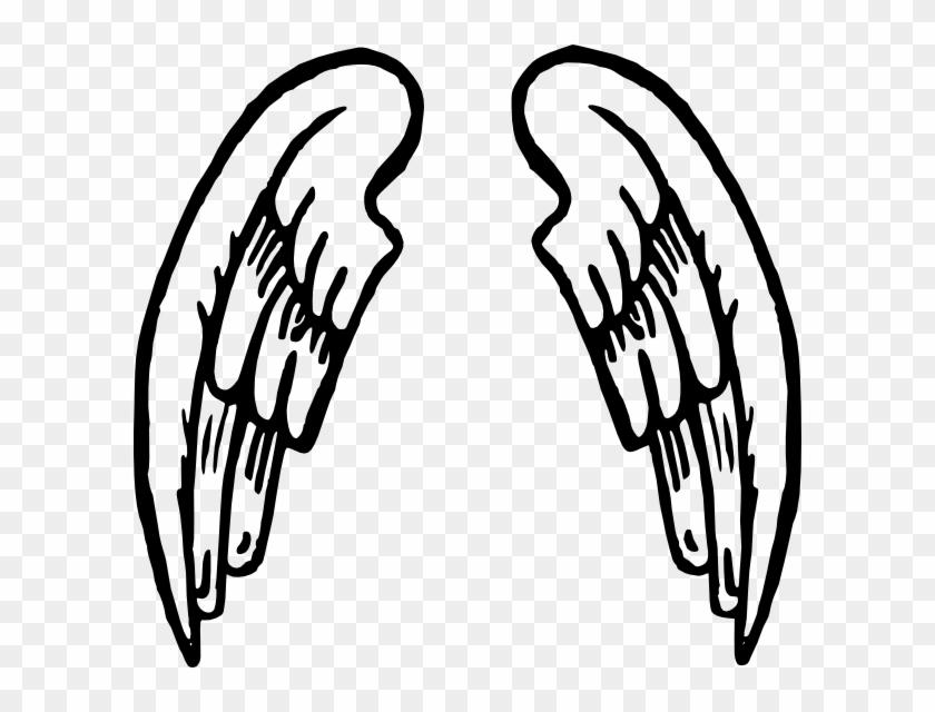 Angel Wings Tattoo Clip Art Free Vector In Open Office - Cartoon Angel Wings #8415