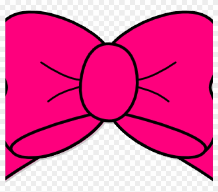 Pink Bow Clipart Hot Pink Bow Clip Art At Clker Vector - Pink Bow Png #8419
