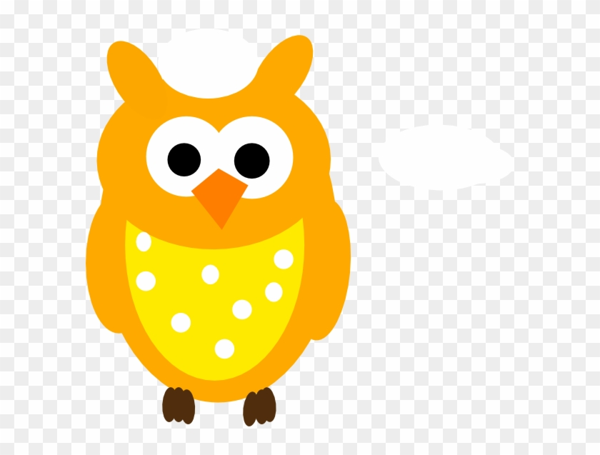 Orange Owl And Dots Clip Art At Clker - Baby Owl Clip Art #8435