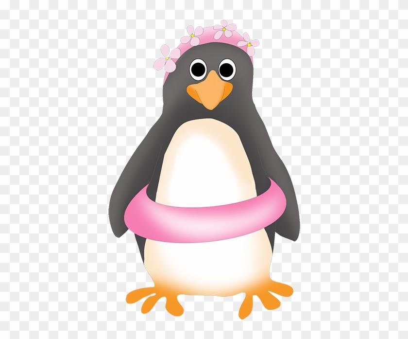 Clipart Of Royal Penguin - Swimming Penguin Clip Art #8450