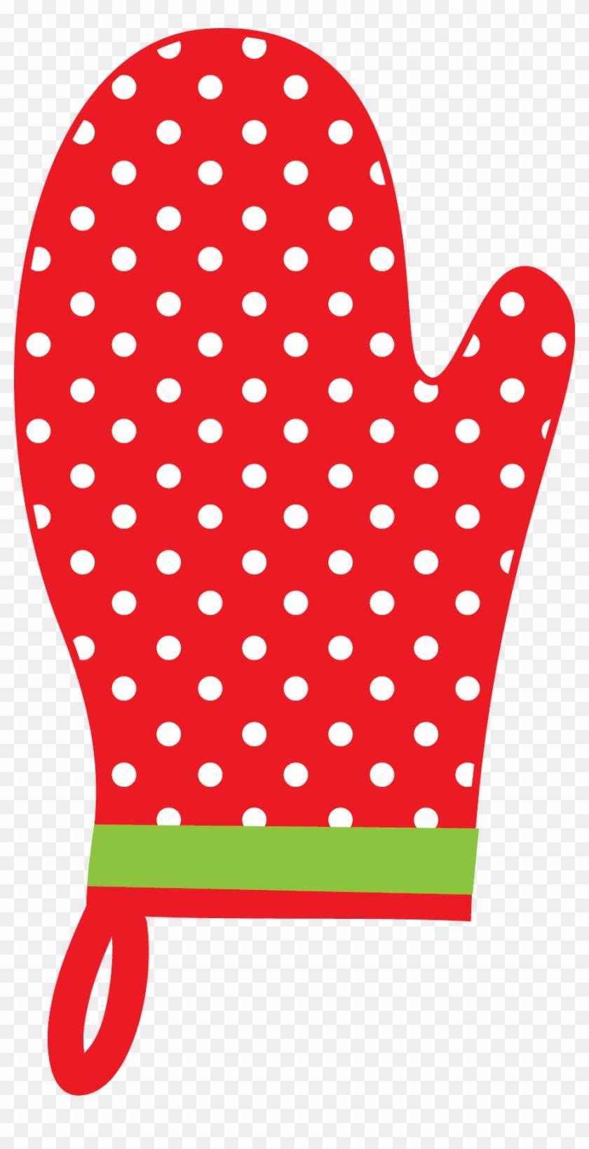 Christmas Oven Mitt Clip Art - Pot Holder Clip Art #8451
