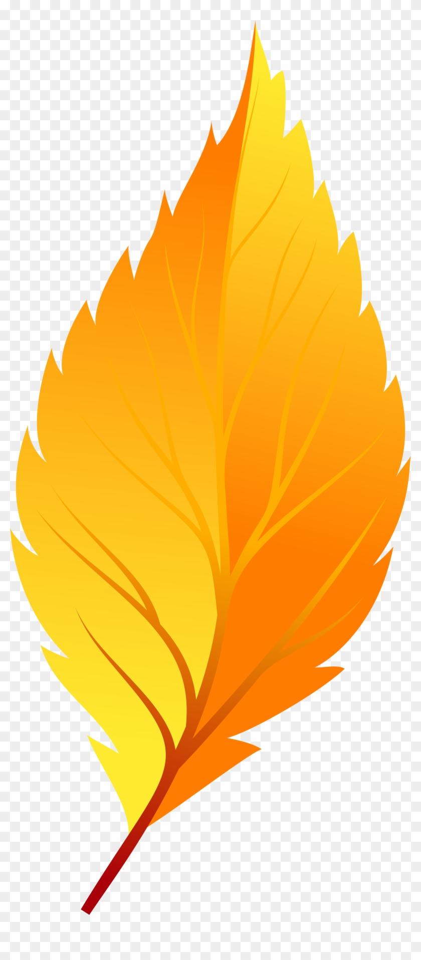 Yellow Autumn Leaf Png Clip Art - Clip Art #861