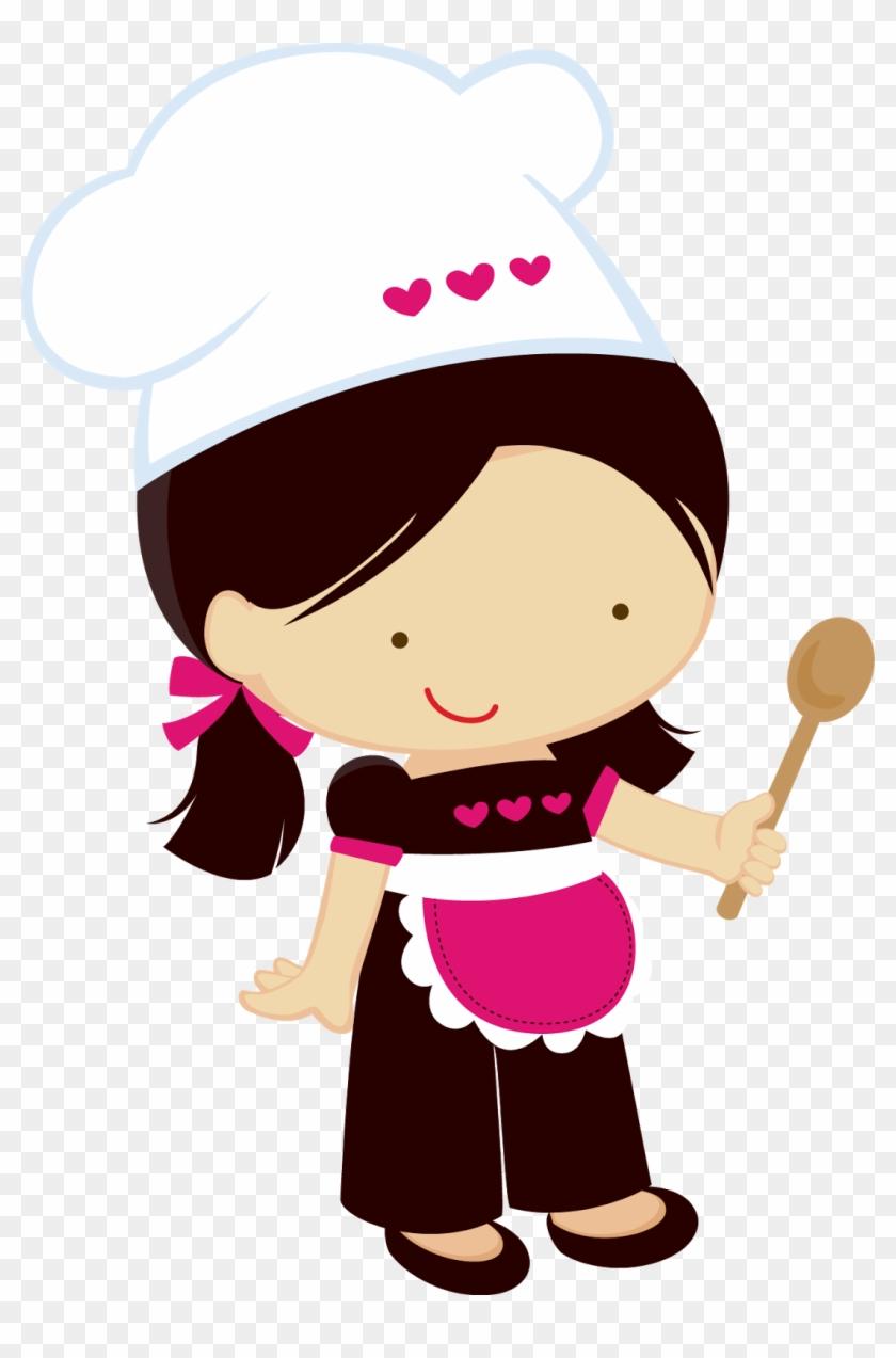 Girl Chef Clipart Clipart Collection Cooking Woman - Desenho De Boneca Cozinheira #8534