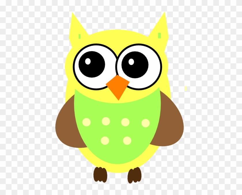 Cute Baby Owl Clipart Yellow Clip Art At Clker Com - Green And Yellow Owl #8533