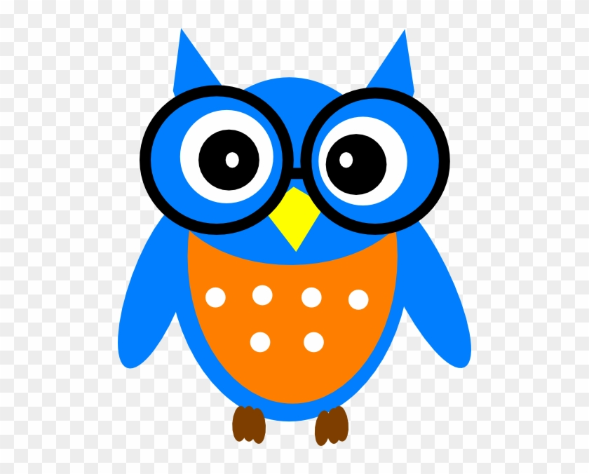 Wise Owl Clipart Free Clip Art Images - Cartoon Owl With Glasses #8538