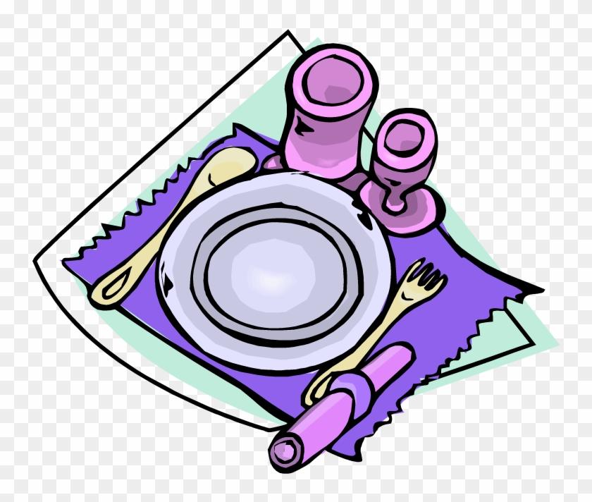 Clip Art Dinner Table Setting Clipart Clipart Suggest - Set Dinner Table Clipart #8544