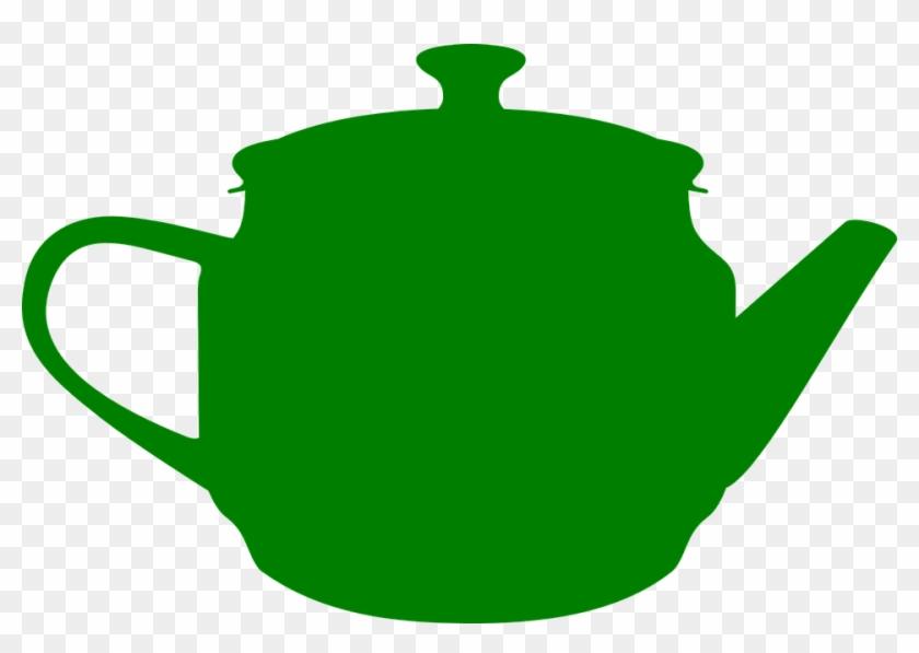 Teapot Green Tea Kitchen Cooking - Green Teapot Clipart #8555