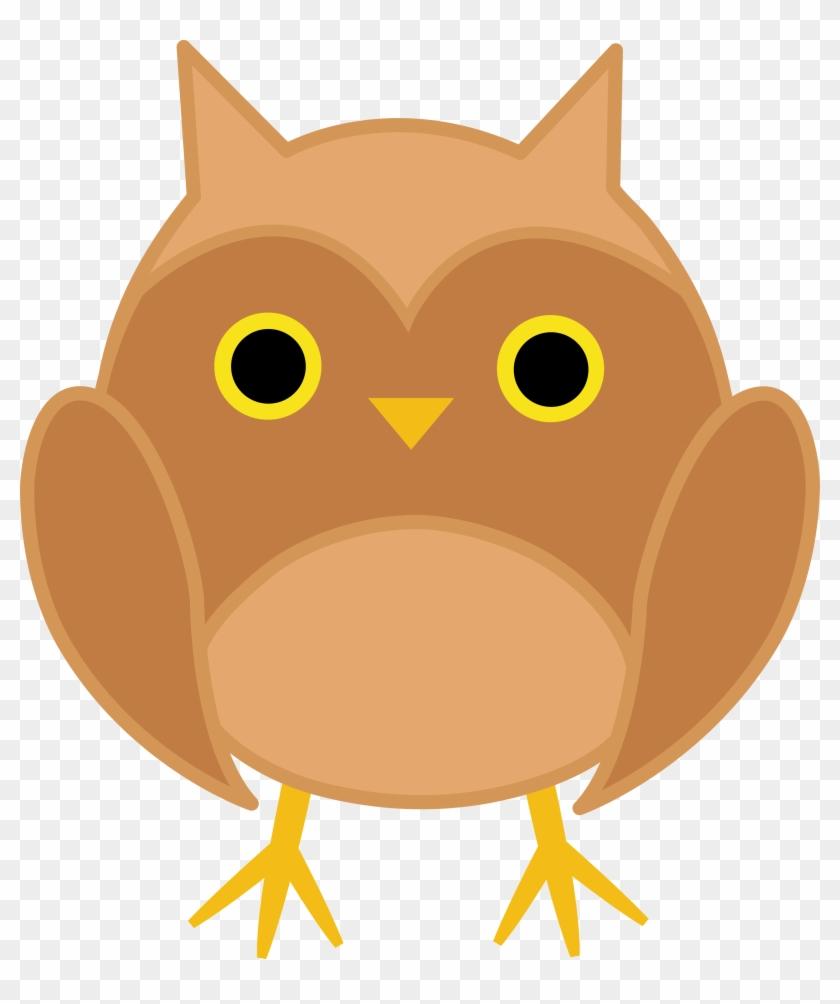 Cute Brown Owl Clipart - Kawaii Cute Owl #8573