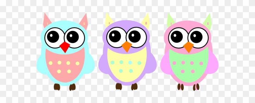 Clip Art Of Baby Owls Pastel At Clker Com Vector Online - Baby Owl Clip Art #8586