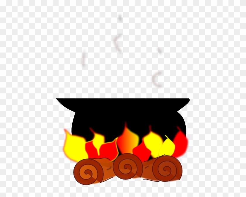 Com Cooking Pot On Fire - Cooking Pot On Fire Clipart #8588
