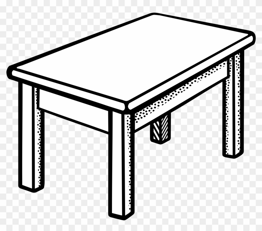 Clip Art Tables Clipartall - Table Clipart Black And White #8596