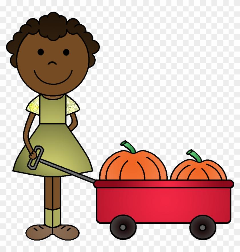 Pumpkin Clipart Child - Clip Art Pumpkin Picking #8595
