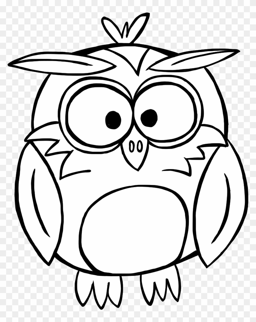 Cute Owl Black And White Dromgjf Top - Fall Clip Art Black And White #8598