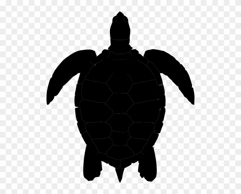 Plum Sea Turtle Clip Art At Vector Clip Art - Silhouette Of A Turtle #8631