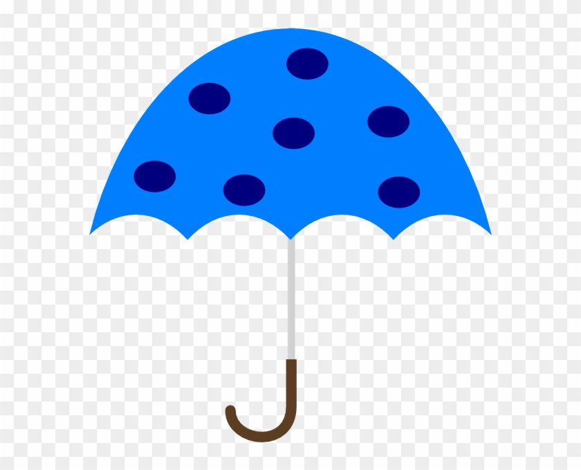 Polka Dot Umbrella Clip Art At Clker - Free Clipart Of Umbrellas #8642