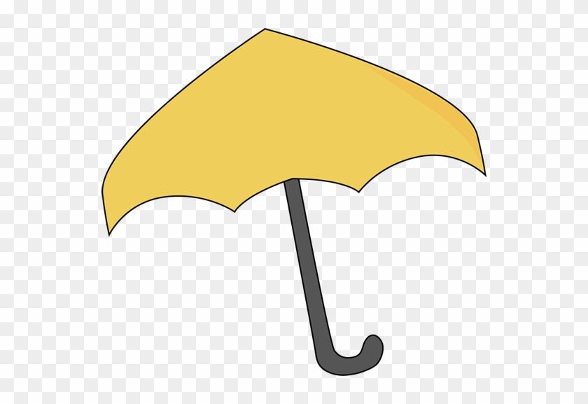 Yellow Umbrella - Yellow Umbrella Clip Art #8643