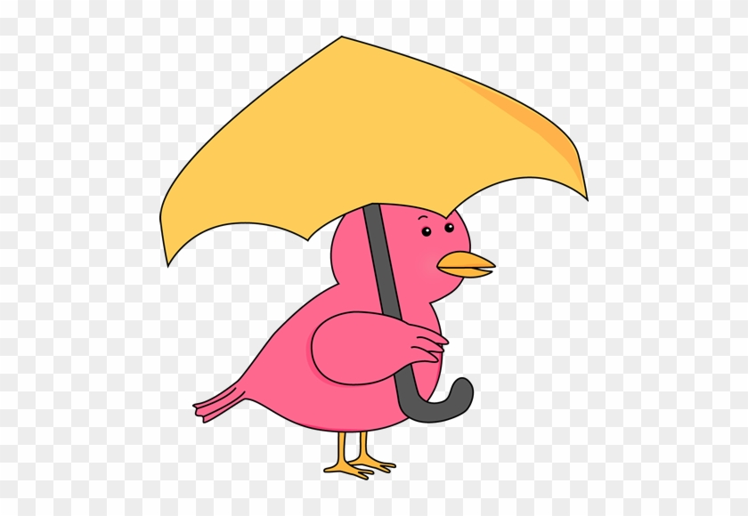 Bird Holding Umbrella - Bird Holding Umbrella #8645