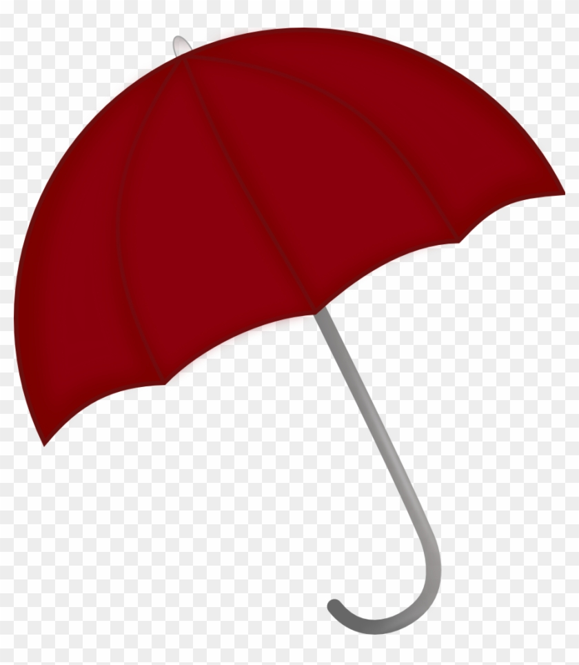 Clip Art Umbrella With Rain - Portrait Of A Man #8652