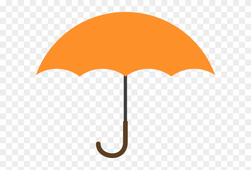 Umbrella Clip Art Orange #8687