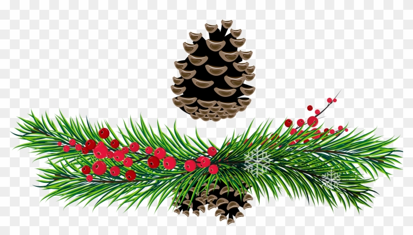 Christmas Pine Cone Clipart - Christmas Pine Cone Clipart #98
