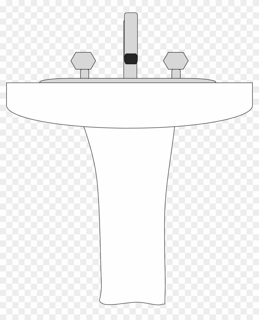 Kitchen Sink Clipart Free Images Wikiclipart - Draw A Bathroom Sink #8706