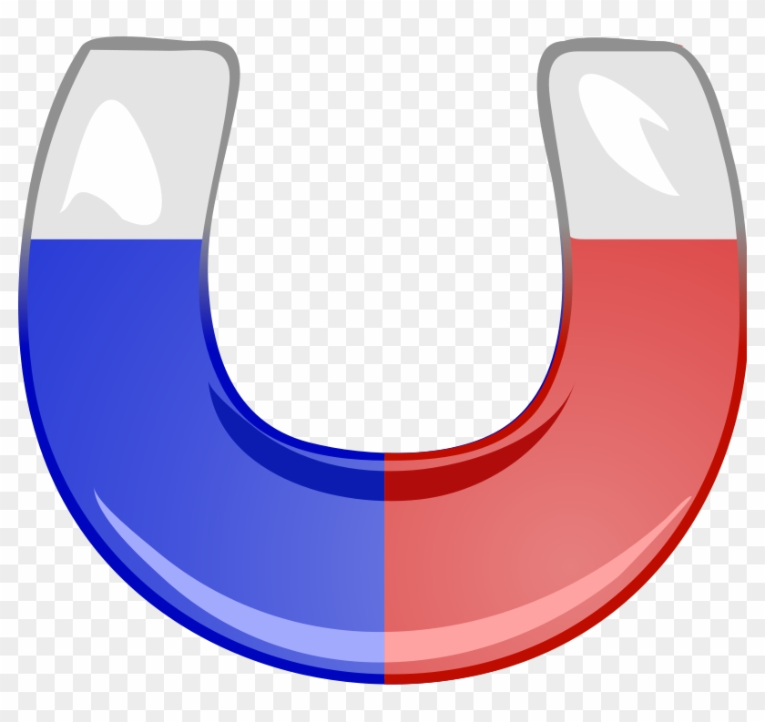 Animated Science Clipart - Red And Blue Magnet #8710