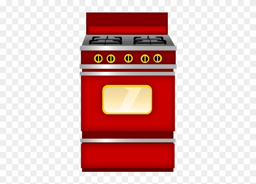 Food Clipartvector Clipartvectorskitchen - Red Stove Clipart #8731