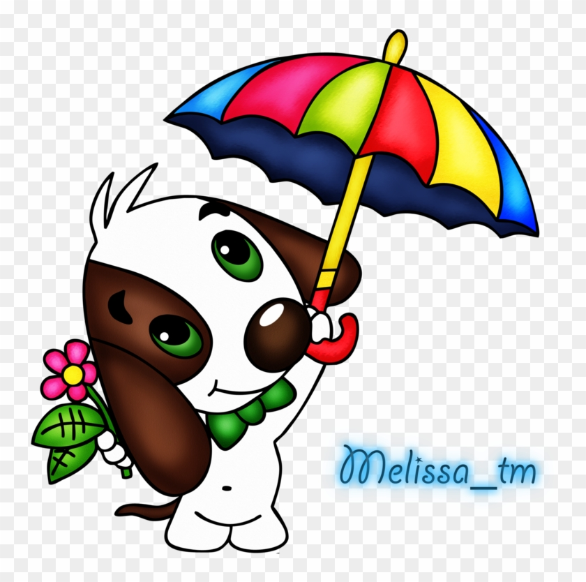Cute Dog With Umbrella Png By Melissa-tm - We Are Family #8737