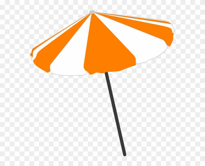 Beach Umbrella Clip Art - Beach Umbrella Vector Free #8739