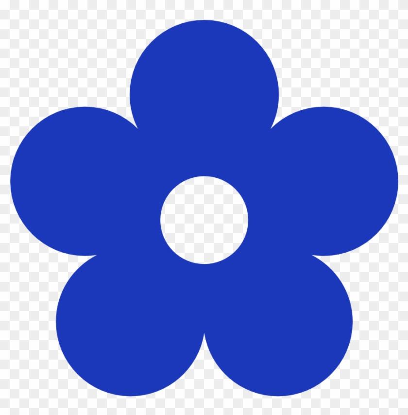 Blue Flowers Clip Art Clipart Best - Dark Blue Flower Clipart #8750