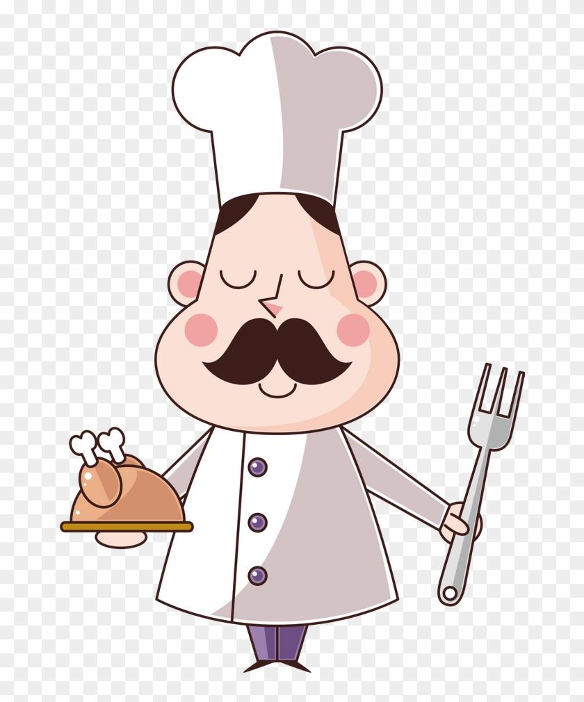 Cozinheiros - Free Download Clipart Cartoon Chef #8762