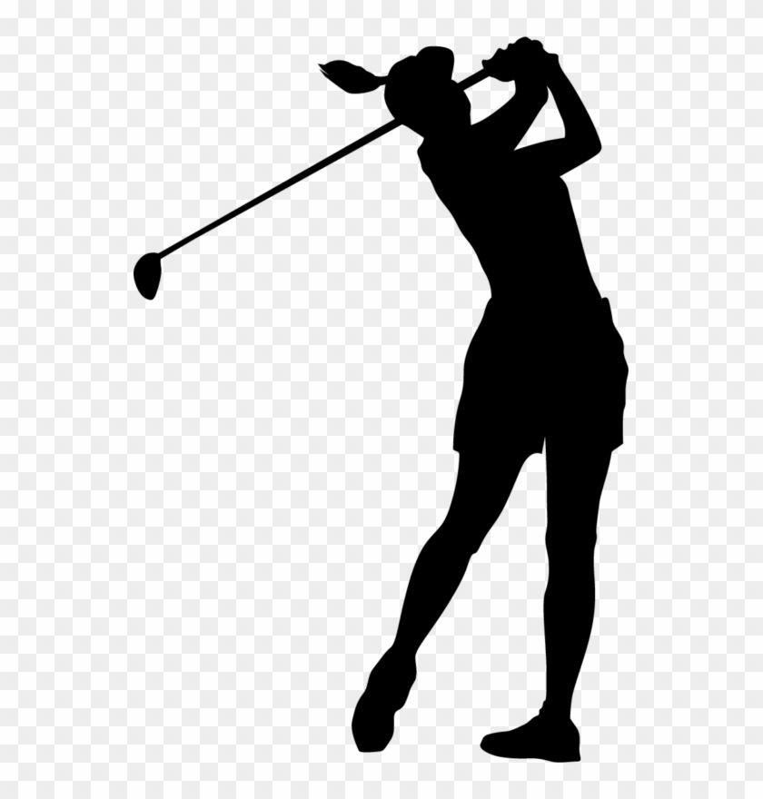 Free Golf Clipart Funny Golf Clip Art Black And White - Female Golfer Silhouette Png #853
