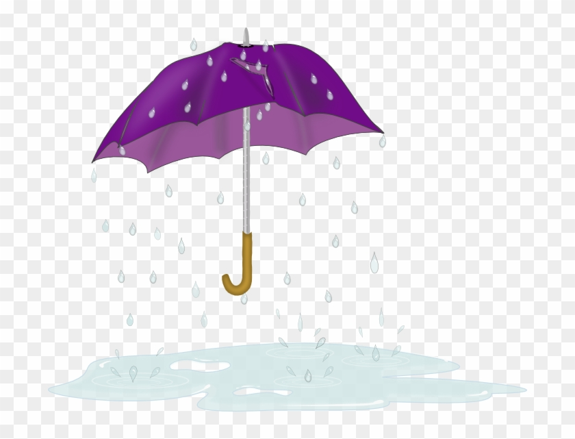 Free Tattered Umbrella Clip Art 111kb - Cartoon Umbrella And Rain #8761