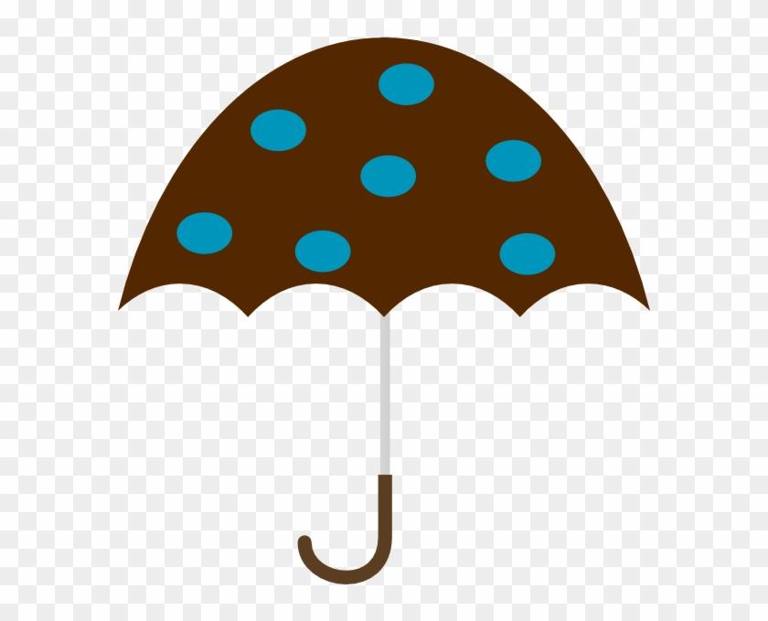 Polka Dot Umbrella Svg Clip Arts 582 X 599 Px - Brown Umbrella Clip Art #8774